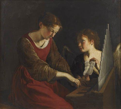sainte cécile et lange by orazio gentileschi