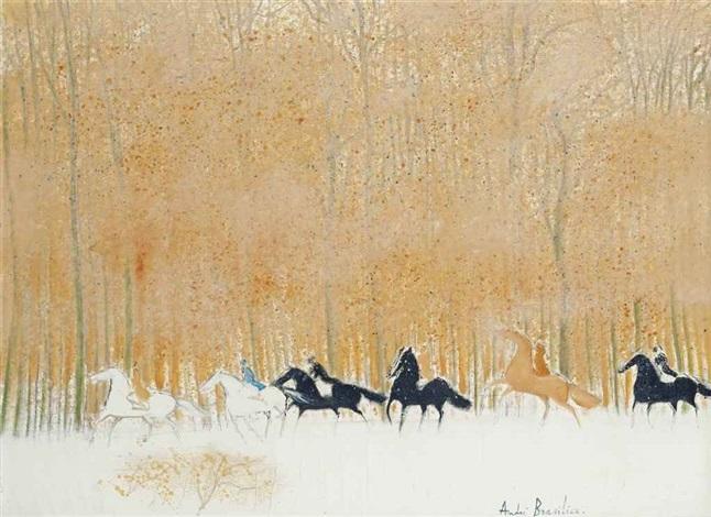 cavaliers sur la neige by andré brasilier