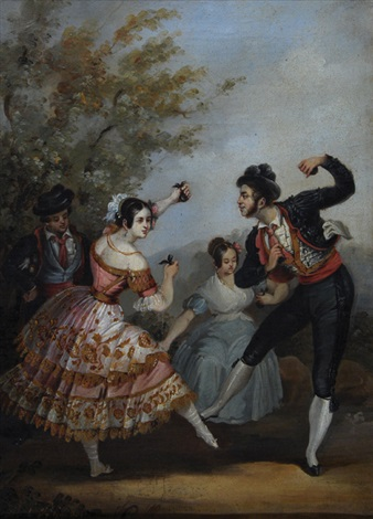 spanish dancers with castanets by manuel cabral aguado bejarano