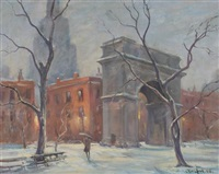 washington square, winter by bela de tirefort