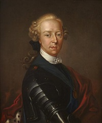 portrait of james edward francis stuart the old pretender in armour by antonio david