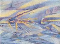 traversando la pianura padana sotto la neve by leonardo dudreville