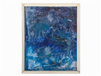 ibiza-composition in blue by rudolf (rudi) baerwind