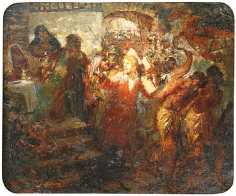 sur le chemin de golgotha by léon joseph florentin bonnat