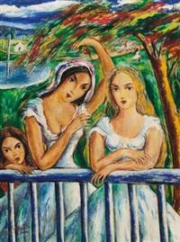 mujeres en el balcón by victor manuel