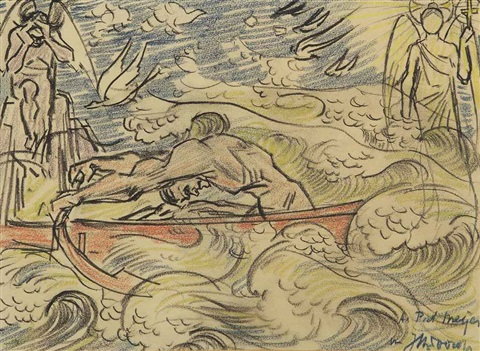 rowing by jan toorop