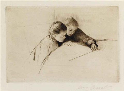 the map (the lesson) by mary cassatt