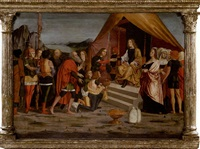 reconciliation de jacob et esaü by ambrogio da (il bergognone) fossano