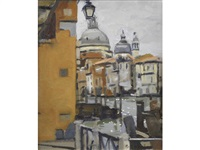 view of the basilica di santa maria della salute, venice by ken howard