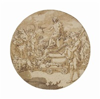 the triumphal procession of bacchus by andrea boscoli