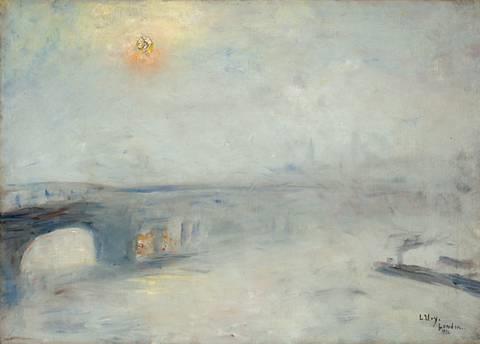 waterloo-brücke bei nebel (london) by lesser ury
