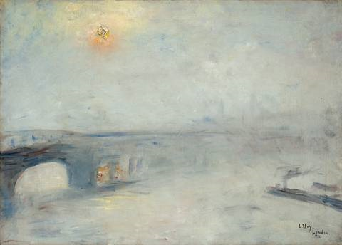 waterloo brücke bei nebel london by lesser ury
