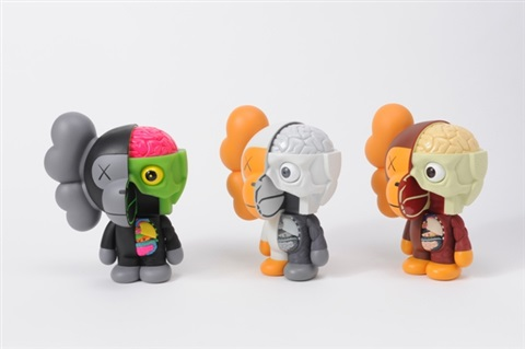undercover bear kaws companion (+ 3 others; 4 works) by kaws
