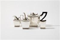 tea set (set of 4) by gerrit de haan