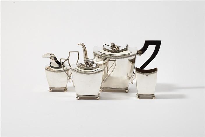 tea set set of 4 by gerrit de haan