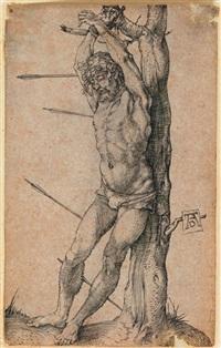 saint sebastien lie a un arbre by albrecht dürer