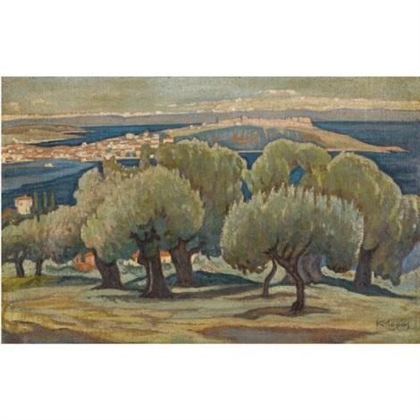 olive trees mytilini by konstantinos maleas