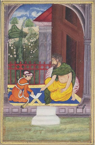 a lesson with a dervish by anonymous indian mughal 16