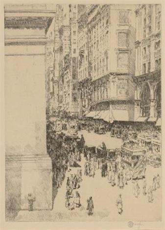 fifth avenue at noon by childe hassam