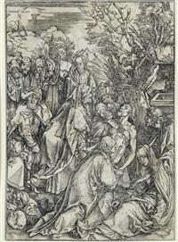la déposition de croix (from la grande passion) by albrecht dürer