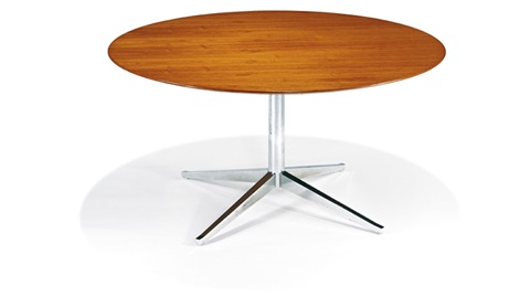 Round Table Desk (model 2482t) By Florence Knoll