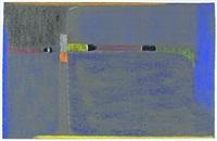 komposition in blau und gelb by max ackermann