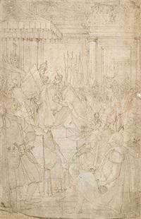 la coronación del emperador carlos v en bolonia by friedrich sustris