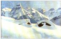 winterliche gebirgslandschaft bei engelberg by wilhelm amrhein
