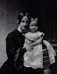 mrs. charles noble and child by charles (carlos) deforest fredricks