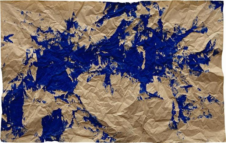 untitled tríptico azul by gabriel orozco