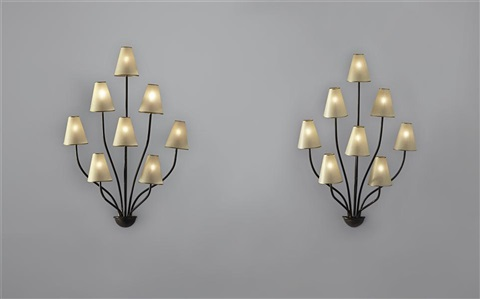 persane wall lights pair by jean royère