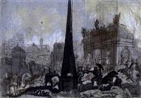 monumentale schlachtszene by augustus (snip) terwesten