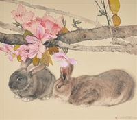 two rabbits by shun-shiung lin