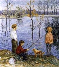les amis à la pêche by n. jirnov