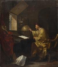 ein geograph in seiner studierstube by hendrik heerschop