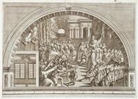 picturae raphaelis sanctij urbinatis (18 works after les loges de raphaël au vatican) by francesco faraone aquila