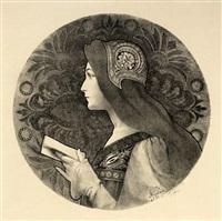 portrait de femme symboliste by jane atche