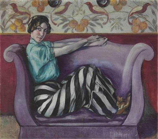 untitled portrait of miss davis by alfredo guttero