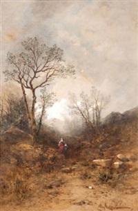la bergère et le pâtre (+ en forêt, lrgr; 2 works) by louis hippolyte le bas
