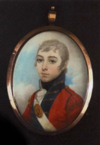 portrait of a young georgian junior officer of a royal regiment by lewis (of bath) vaslet