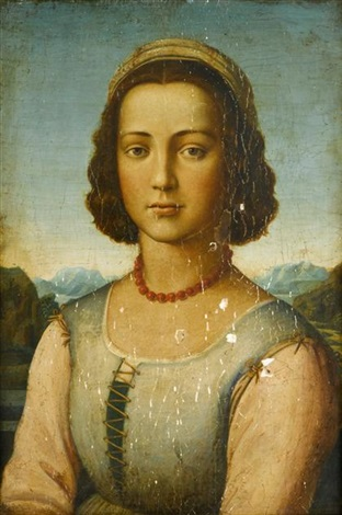 portrait of a young lady portrait of a young man 2 works by filippo filippino lippi