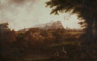 city of edinburgh from the west, looking over dean village by alexander nasmyth