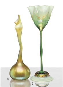 rose water sprinkler vase by tiffany studios