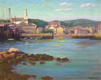 summer day, rockport by freeman willis simmons