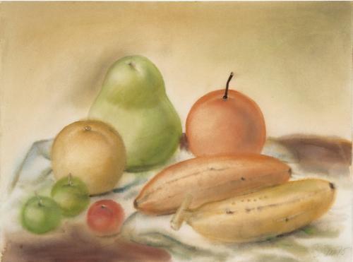 naturaleza muerta con frutas by fernando botero