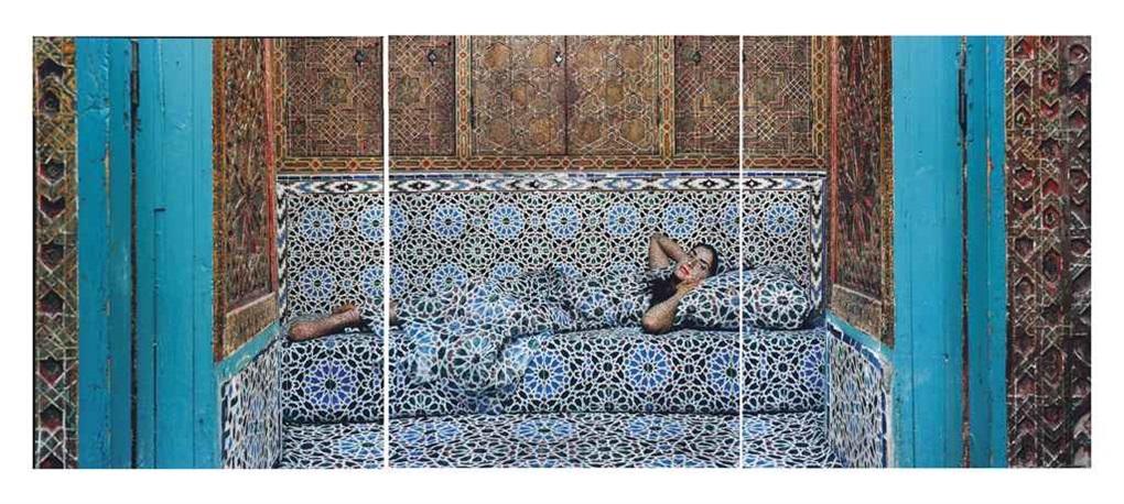 harem no18 triptych by lalla essaydi