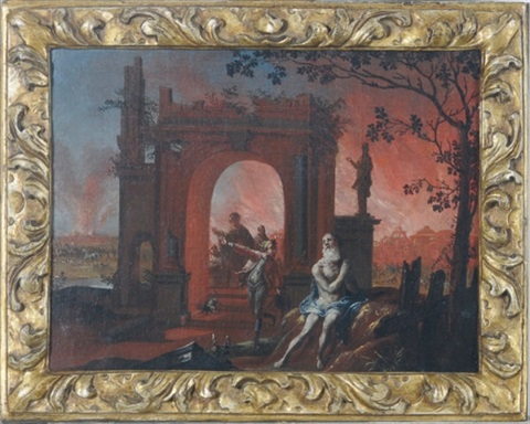 the burning of troy by daniel van heil