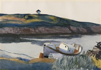 coast guard cove by edward hopper