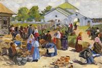 at the market by vyacheslav pavlovich bychkov