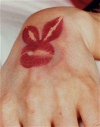 dian parkinson's hand with bunny motif, cover detail, may by stephen wayda